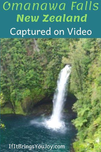 Waterfall in Omanawa Falls in New Zealand
