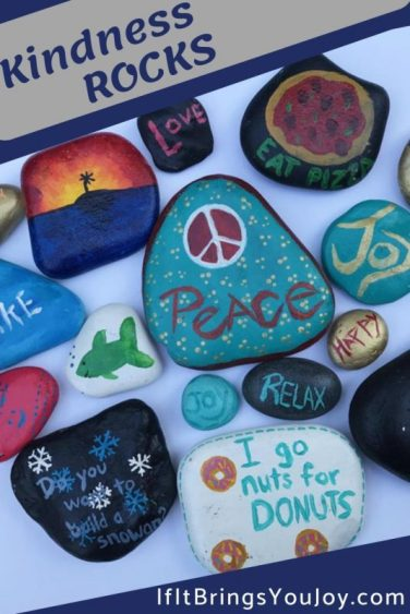 A collection of kindness painted rocks.
