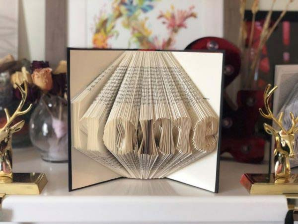 Book folding art project