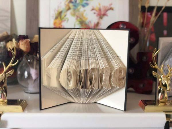 Book folding art project
