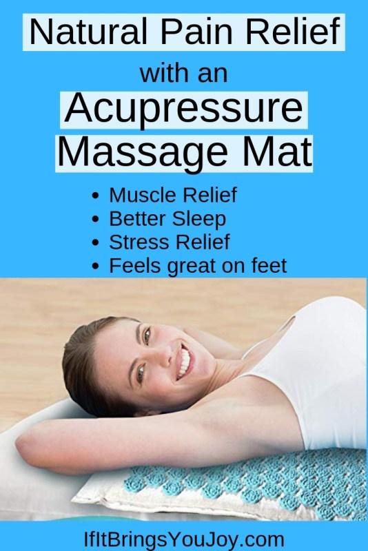 Lady lying on an acupressure massage mat