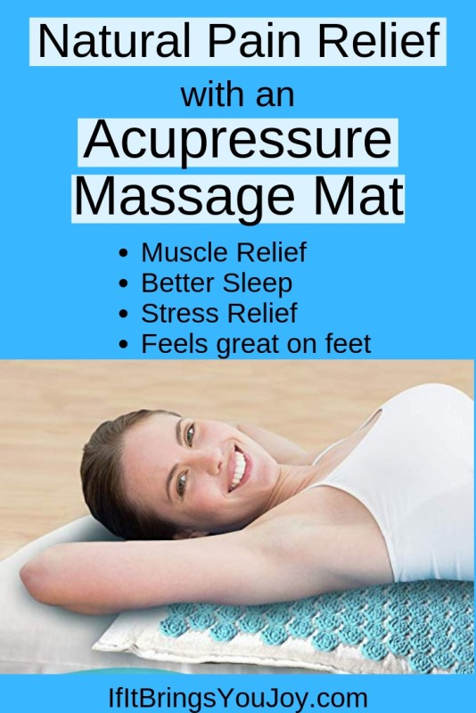 Lady lying on an acupressure massage mat