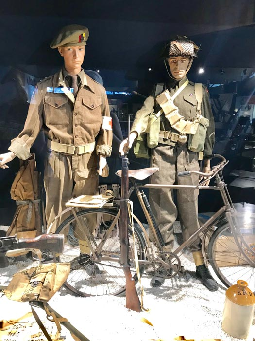 Mannequins in the the Museum of the Battle of Normandy