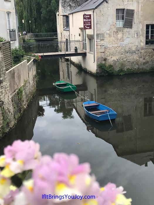 Pretty view in Bayeux, France