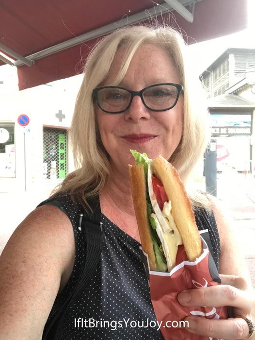 Sandwich on a French baguette