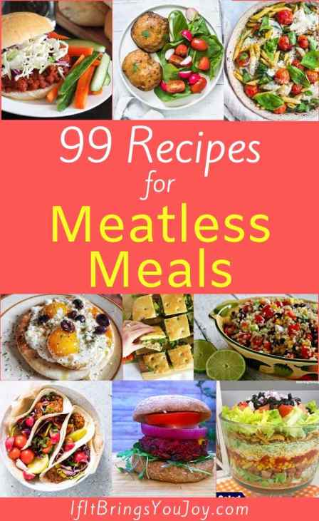 Collage of meatless meals