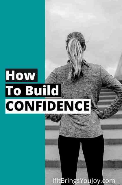 Woman building confidence