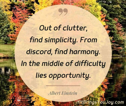 Changing fall colors with quote by Albert Einstein