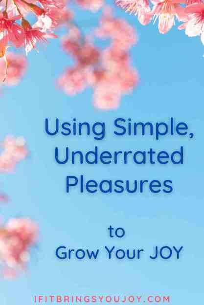 Simple pleasures in life