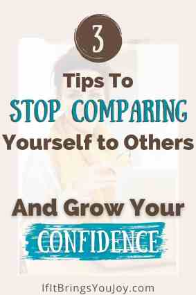 Tips to stop comparing yourself to others.