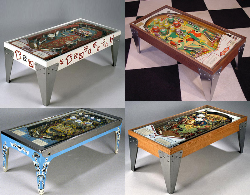 Repurposed Vintage Pinball Machines
