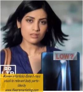 women horlicks marketing-bone xrays stuck to different body parts-www.ifiweremarketing.com