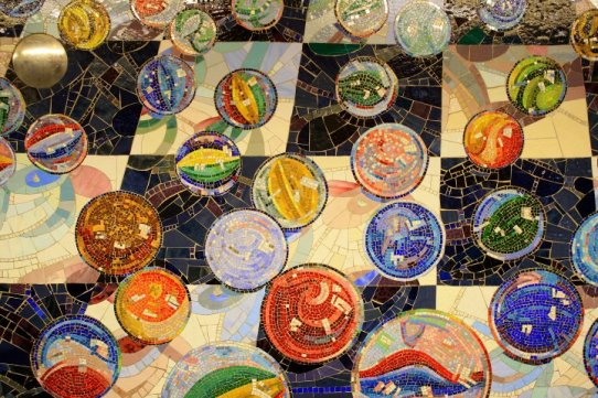 Subway mosaic