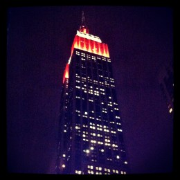 Empire State Building dressed up for Halloween