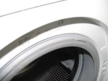 Front load washer with door open
