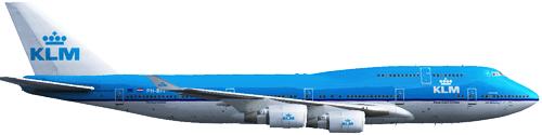 Resultado de imagen para Boeing 747-400 KLM png