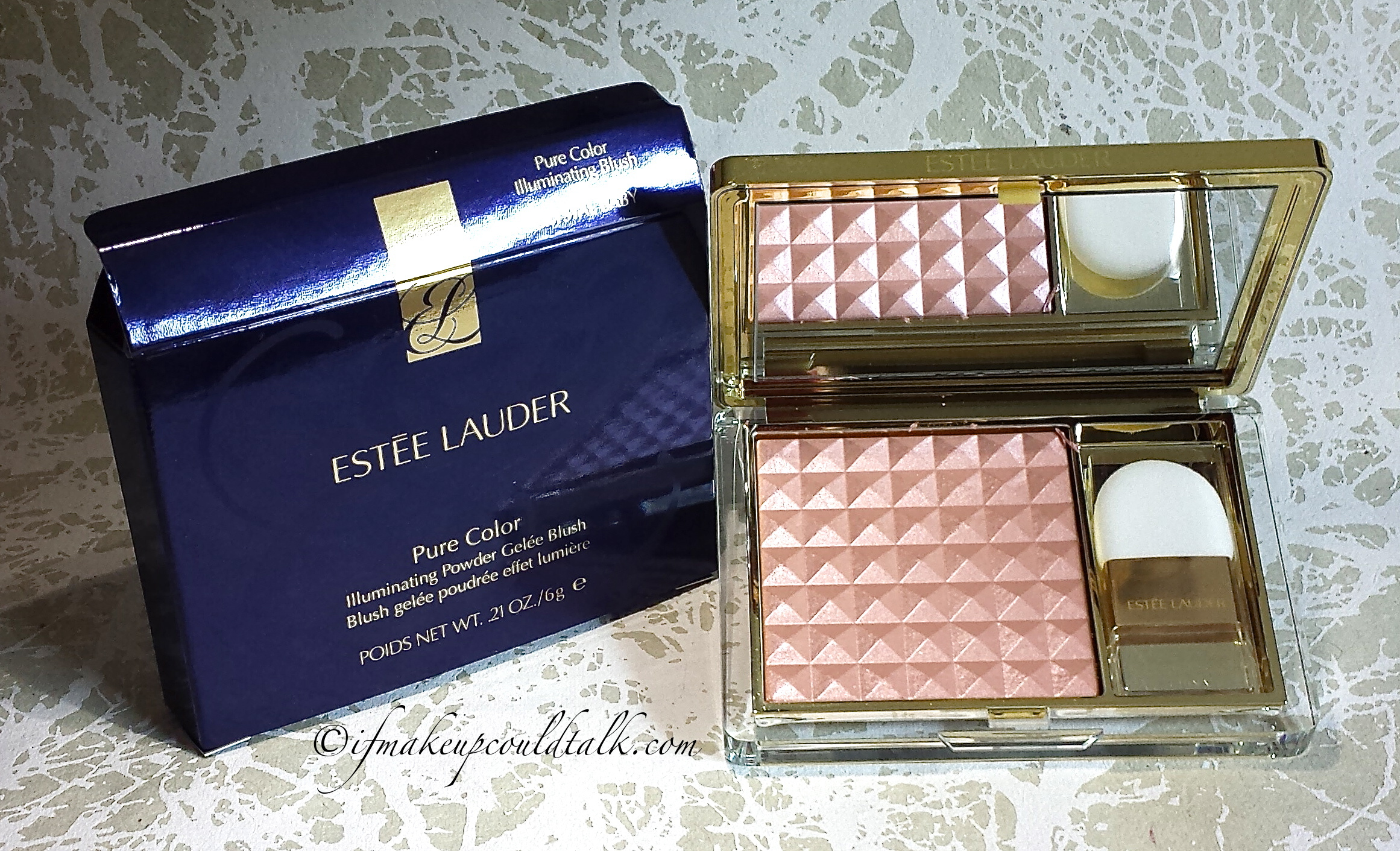 Estee Lauder 04 Crystal Baby Pure Color Illuminating Powder Gelee Blush review and comparisons.