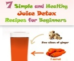 juice fasting recipes for weight loss and detox infographic