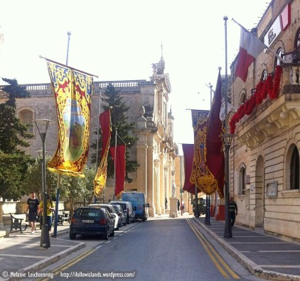 Decorated street in Rabat
