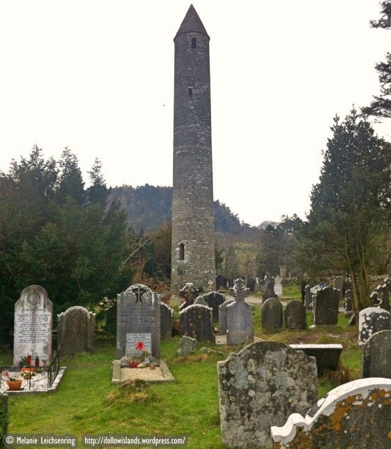The Round Tower at Glendalough, about 30 metres high