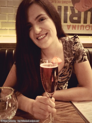 Me happy with a drink!