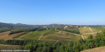 View towards San Gimignano