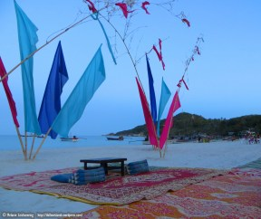 In the evening it's very chilled with numerous beach bars popping up
