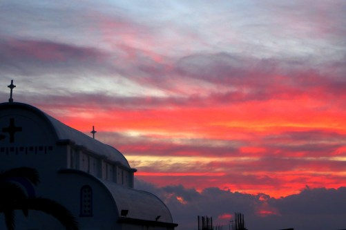 Gorgeous sunsets viewed from our terrace