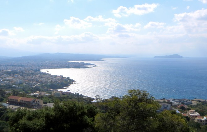 View from terrace towards Chania