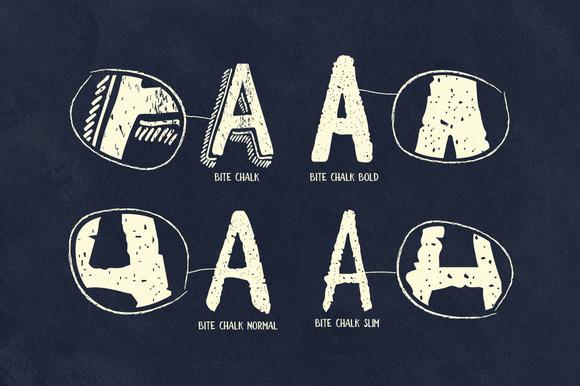 BiteChalk Typeface + extras
