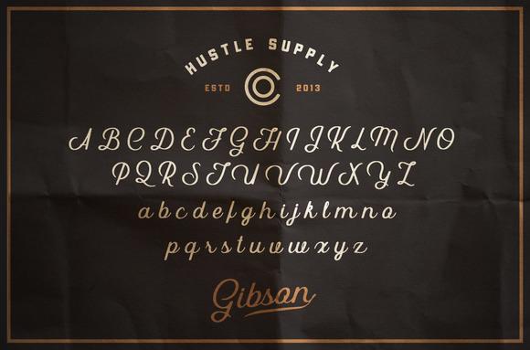 Gibson Script + Extras