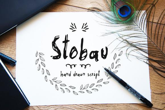Stobau font