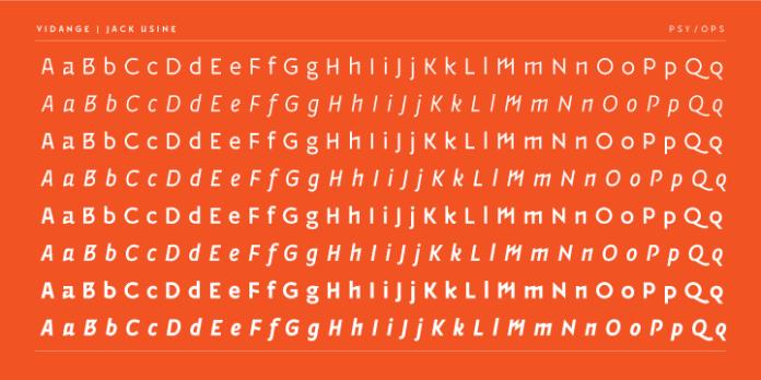 Vidange Pro Font Family