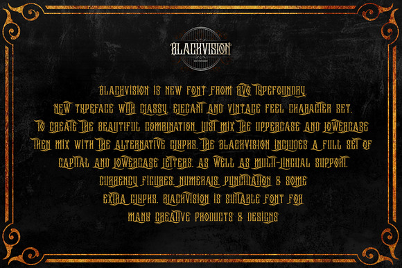 The Black vision (intro sale)