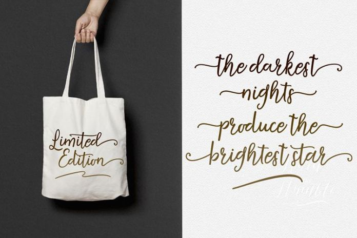Agustine Script Font Family