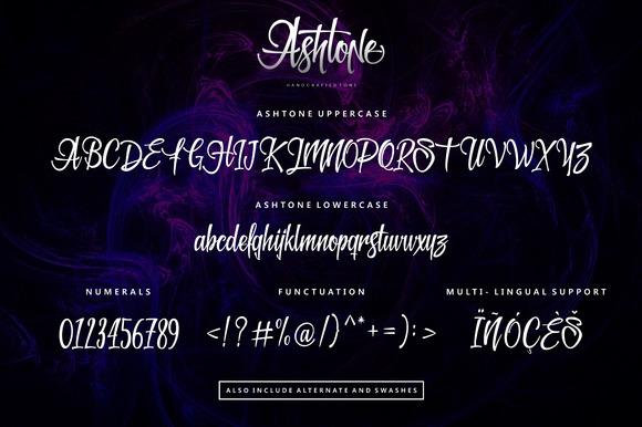 Ashtone Script Font