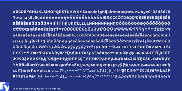 Gymkhana Font Family