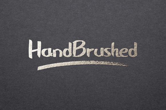 HandBrushed Font