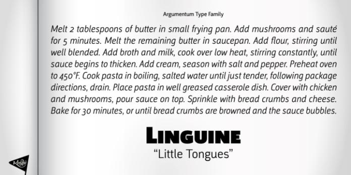 Argumentum Font Family