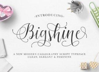 Bigshine Script Font