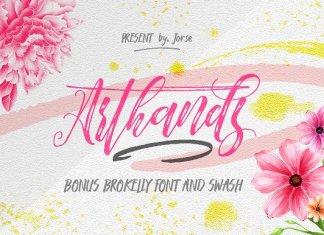 Arthands Script Font