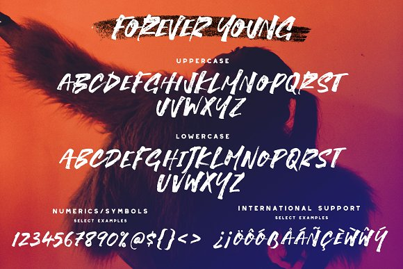 Forever Young Brush Font