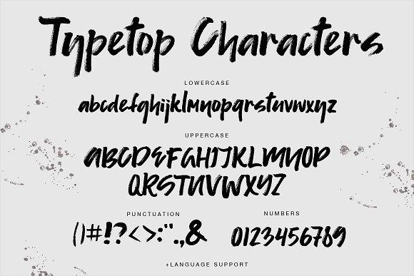 Typetop Brush Font