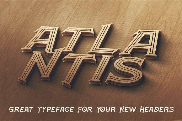 Atlantis - Vintage Style Font