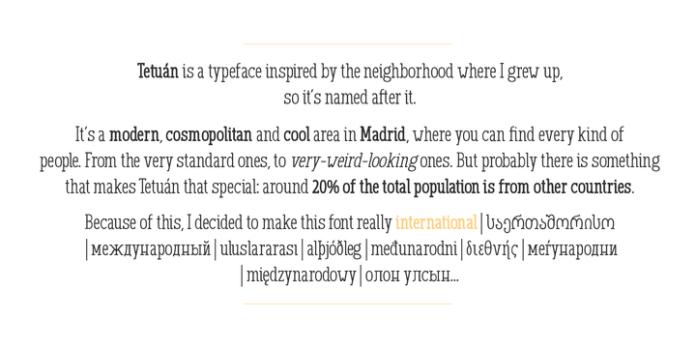 GL Tetuan Font Family