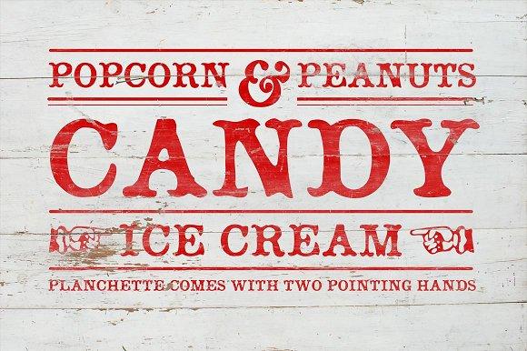 Planchette  Display font