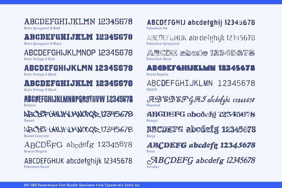 Powerhouse Font Bundle