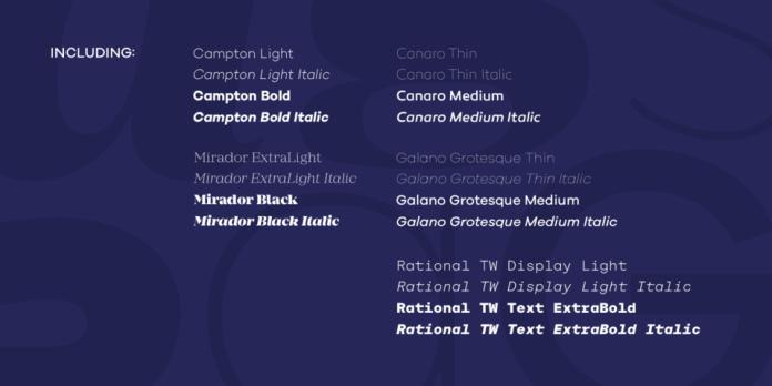 Rene Bieder Selection Font Bundle