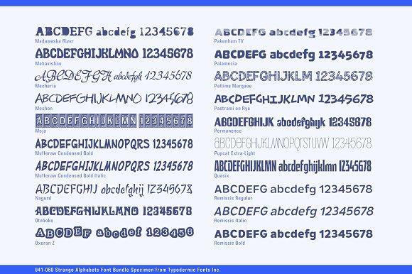 Strange Alphabets Font Bundle