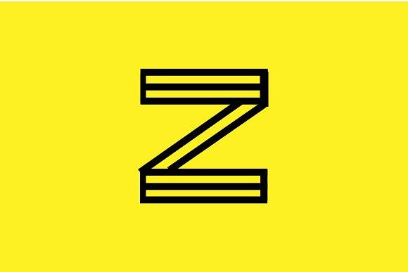 STRUCTURE geometric modern font